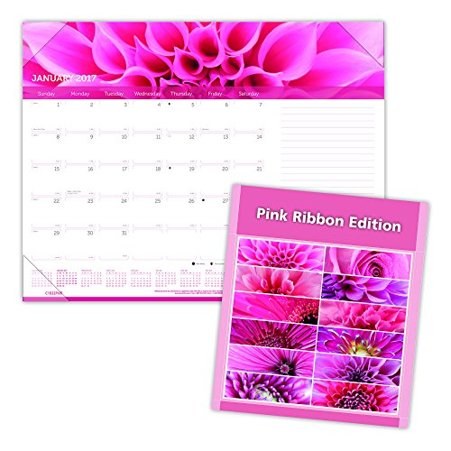 Brownline 2017 Monthly Desk Pad Pink Ribbon 22 X 17