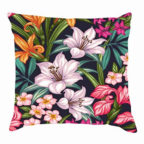 Throw Pillow Covers Scandinavian Folk Art Flowers Paper