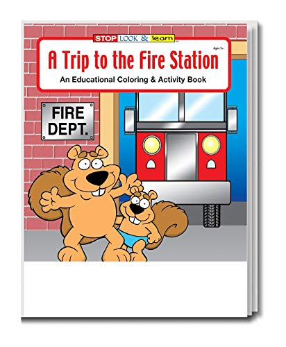 A Trip to The Fire Station Kid's Educational Coloring & Activity Books in Bulk (25-Pack)