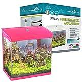 All Pond Solutions Nano Fish Tank Aquarium LED Lights, Small, 29 Litre, Pink