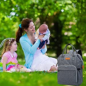 Diaper Bag Multi-Function Waterproof Diaper Backpack Nappy Bags for Baby Care