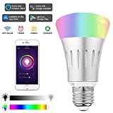 YITMOY Smart LED Light Bulb, with Amazon Alexa Google Home Assistant,RGB Multicolor,Free APP and Voice Control,E27 7W Wi-Fi Smart Bulb (1 Pces)