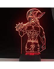 Tatapai Bleach Grimmjow 3D LED lampki nocne anime iluzja oświetlenie lampara do dekoracji domu prezent świąteczny - czarna podstawa pilot zdalnego sterowania