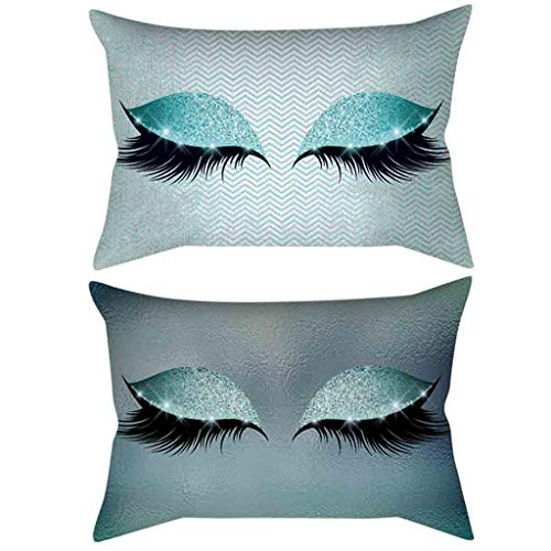 (Londony ♪ Bronzing Flannelette Home Pillowcase Decorative Cushion Cover Eyelashes Letters Lash Out Covers Set Bedroom)