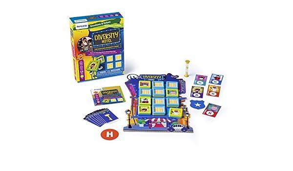 Miniland- Diversity Hotel Juego para niños sobre emociones. (45404): Amazon.es: Juguetes y juegos