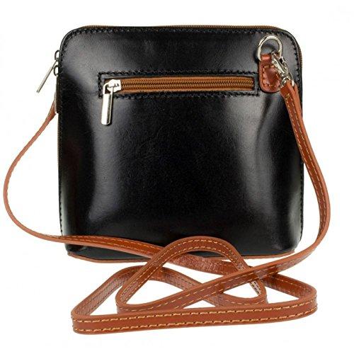 Blackdtan Shoulder Genuine or Vera Bag Bag Pelle Cross Leather Mini Body Italian pZqwpzP