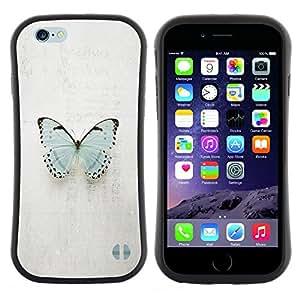 "Hypernova Slim Fit Dual Barniz Protector Caso Case Funda Para Apple (5.5 inches!!!) iPhone 6 Plus / 6S Plus ( 5.5 ) [Mariposa azul minimalista Pretty Gris""]"
