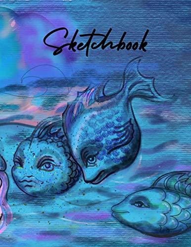 Sketchbook: Under the sea wonderland blank sketchbook for drawing and sketching