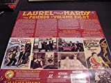 Laserdisc of Laurel And Hardy And Friends Volume Eight, The Finishing Touch, Leave 'Em Laughing, The Stolen Jools, THe Big Beef, Bromo And Juliet and Radio Rampage.