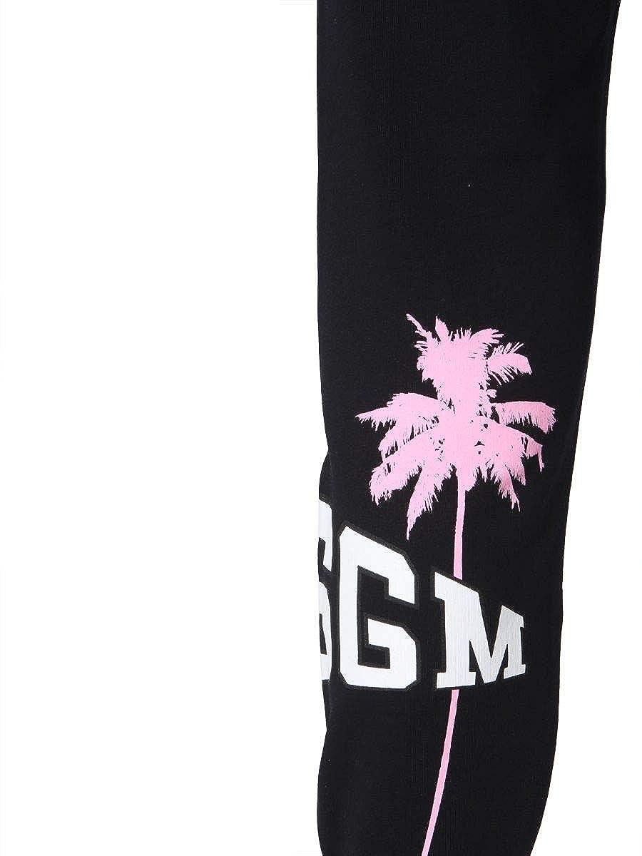 MSGM Womens 2641MDP6219529999 Black Cotton Joggers