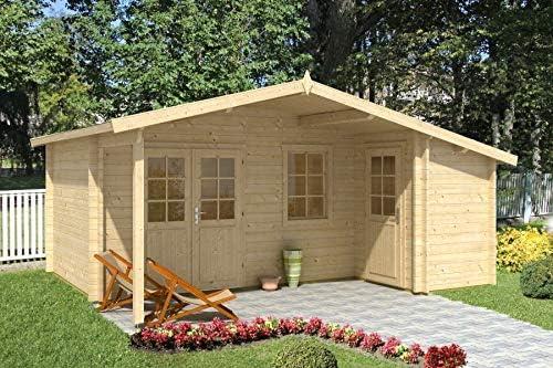 Alpholz Nordkapp ISO - Caseta de jardín (44 mm de Grosor, 538 x 448 cm): Amazon.es: Jardín