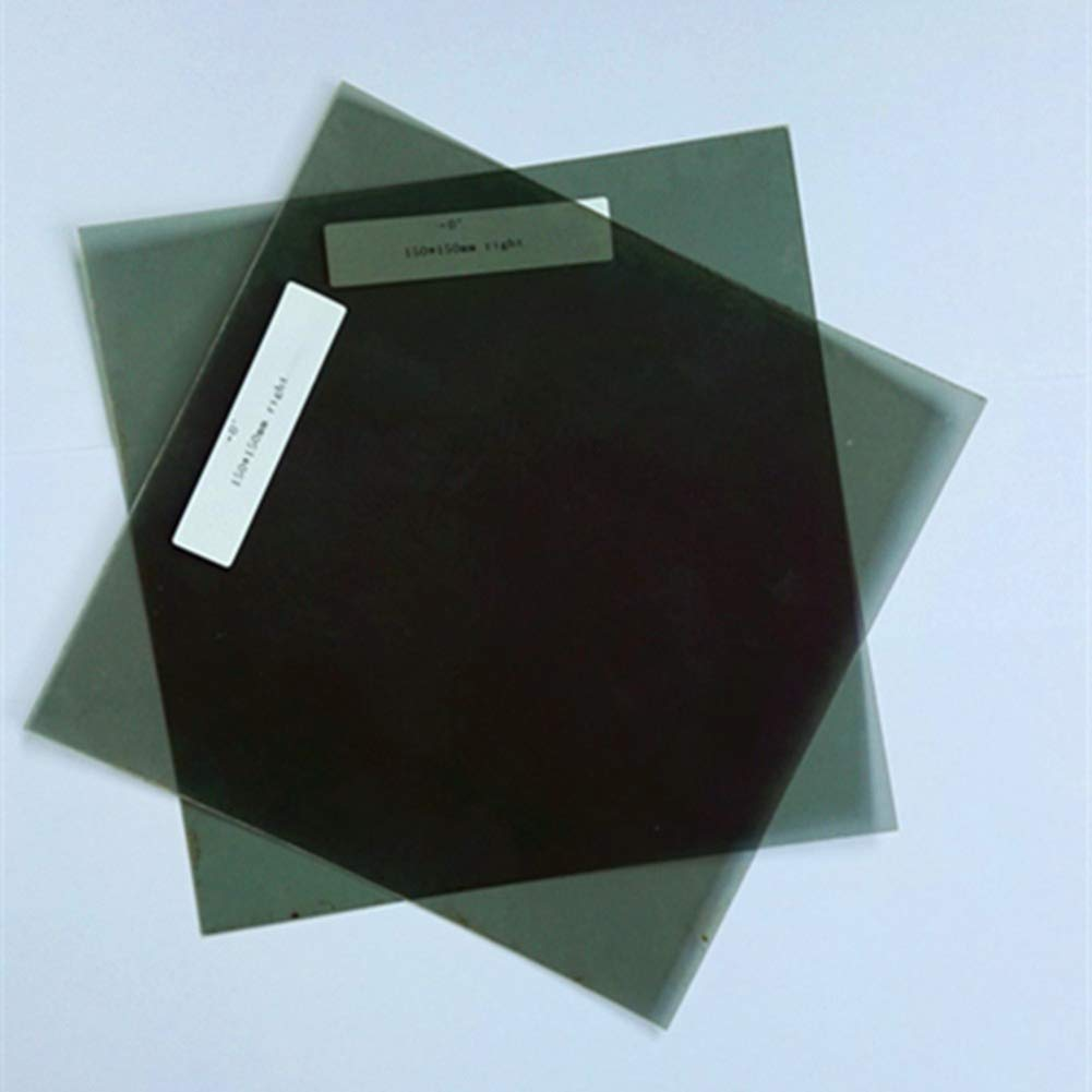 10 cm Square 3D Circular Polarized Film,Non-adhesive Circular Polarized Filter For Left And Right Eyes 0 Degree 10