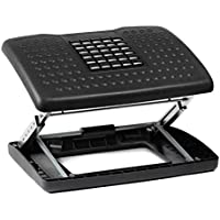 Halter F6068 Adjustable Height Foot Rest with Rollers for Foot Massage - Black