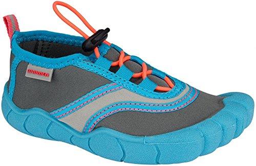Wasserschuhe Foot Print - Foot Print junior blau / grau Größe 26