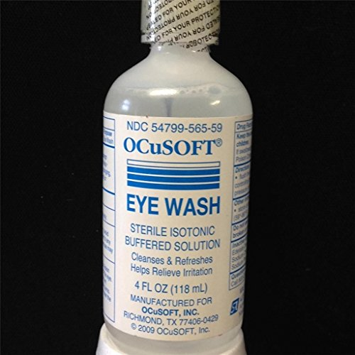 Ocusoft eye wash irrigating solution sterile isotonic buffered 4oz