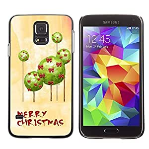 YOYO Slim PC / Aluminium Case Cover Armor Shell Portection //Christmas Holiday Mery Christmas 1168 //Samsung Galaxy S5