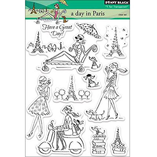 Penny Black Decorative Rubber Stamps, A Day in Paris -