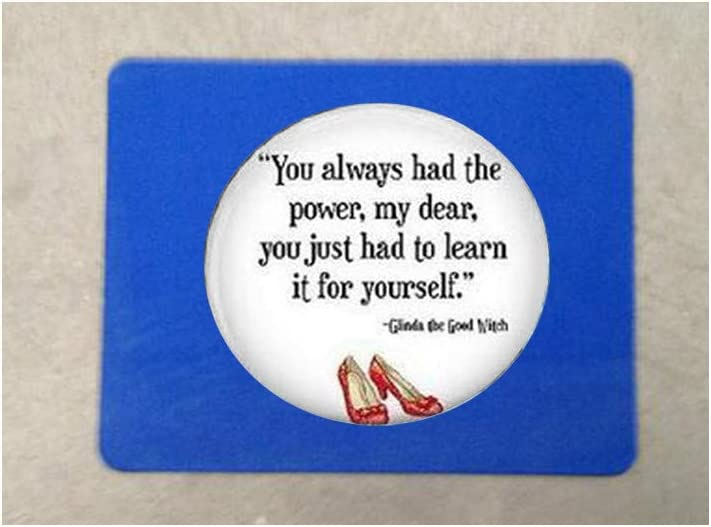 Wizard of Oz Jewelry ou Always Had the Power Necklace Wizard of Oz Mouse mat Mouse pad Literary Jewelry