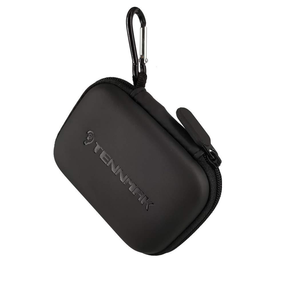 TENNMAK イヤホンケース イヤホン キャリーケース ホルダー 収納バッグ ヘッドホン ミニポーチ イヤホン イヤホン Airpods Bluetoothヘッドセット対応 壁充電器 USBアダプターケーブル カラビナ付き   B07RVB3B58