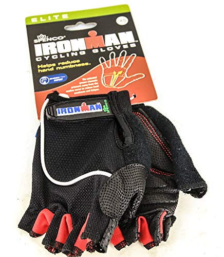 Spenco\Ironman Elite X-Small Road Cycling Gloves Numbness Reducing Black New