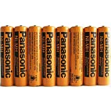 #4: 8 Pack Panasonic NiMH AAA Rechargeable Battery for Cordless Phones