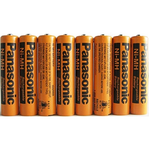 8 Pack Panasonic NiMH AAA Rechargeable Battery for Cordless Phones - Mh Series