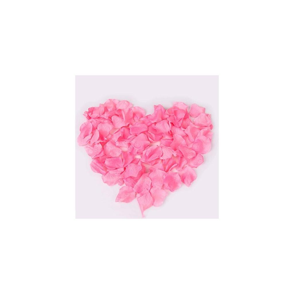 UGE 4000 PCS Artificial Silk Rose Petals Carpet Flowers Bulk for Wedding Favor Party Decoration (Pink)
