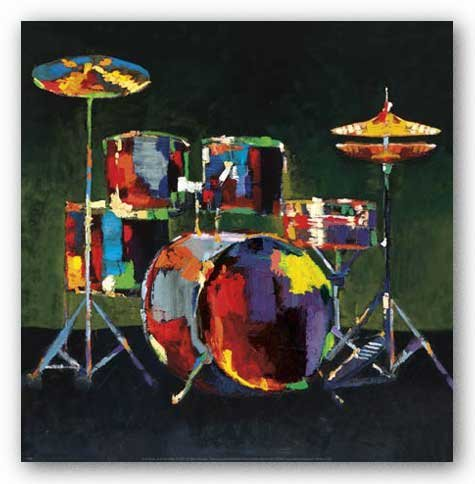 Drum Photo Poster (Drum Set by Elli and John Milan 12