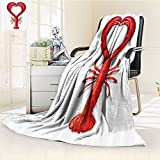 Sea Animals Custom Blanket By Nalohomeqq A Boiled Lobster Shaped As A Heart Symbol Fish Dinner Seafood Love Restaurant Menu Art Accessories Red