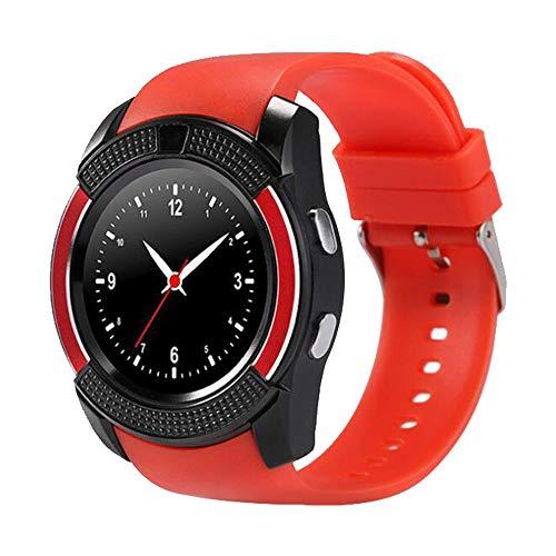 Smartwatch Reloj Inteligente Bluetooth, Reloj Inteligente Bluetooth para Móviles Andriod, Batería Grande Soporta TF SIM Facebook Whatsapp Pódometro ...