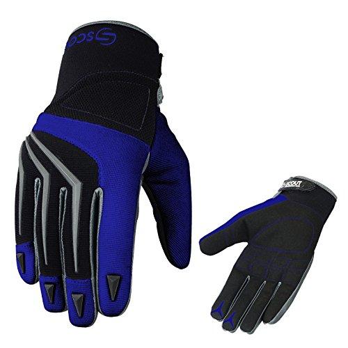 "SPG Brand New Motocross Racing MX Gloves Off Road Dirt Bike Racer Riding Men Adult Gloves (XL(8-8.5""), Blue)"
