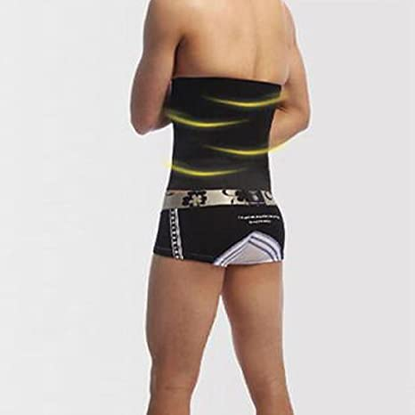Amazon.com: eDealMax L Hombres Ropa Interior que adelgaza la Cintura del condensador de ajuste de la Correa Abdomen Faja Modeladora: Health & Personal Care