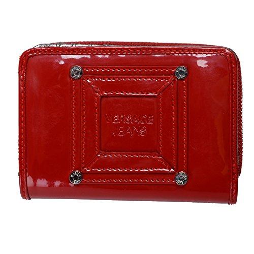 Versace Jeans Women's True Red Zip Around Small Wallet
