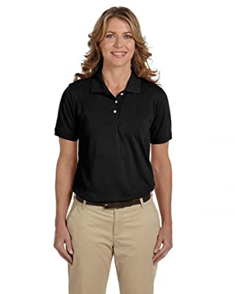 shirts bottom ladies banded polo