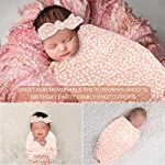 NOZAAM-Infant-Receiving-Blanket-Nursery-Swaddling-Blankets-Gift-for-Newborn-Baby-Girls-Boys-Pink
