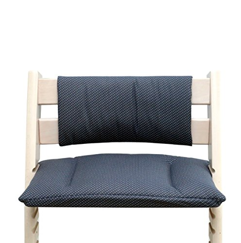 Blausberg Baby - Cushion Set Junior for Tripp Trapp High Chair of Stokke - Anthracite Dots