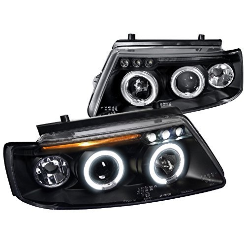 Spec-D Tuning LHP-PAS97JM-TM For VW Passat B5 Halo LED Projector Head Lights Corner Signal Lamp Black