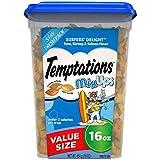 TEMPTATIONS MixUps Treats for Cats SURFER'S DELIGHT Flavor, 16 Oz Tub