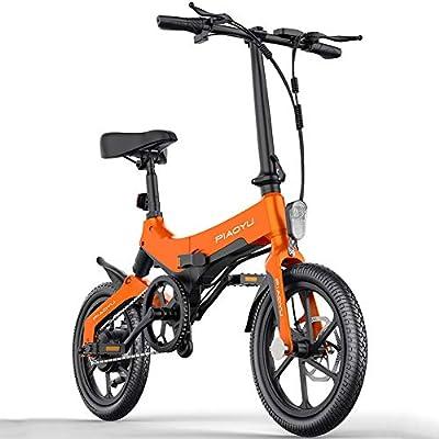 CHEER.COM Bicicleta Eléctrica Plegable Rueda De 16 Pulgadas Marco ...