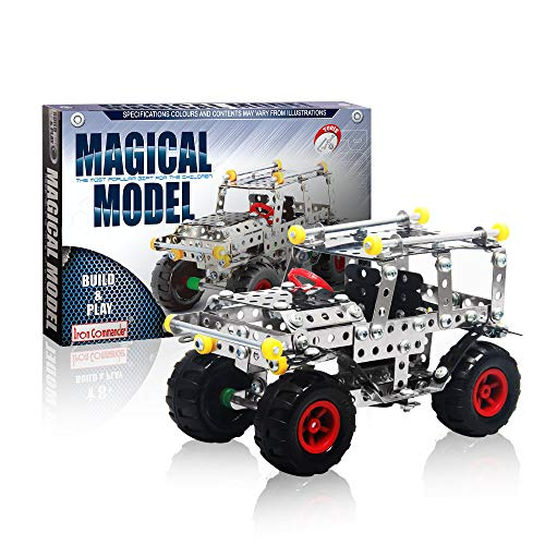- IRON COMMANDER Model Cars Kit to Build Metal Erector Sets for Boys Model Cars Adults Model Car Off-Road Erector Set (816B-48)