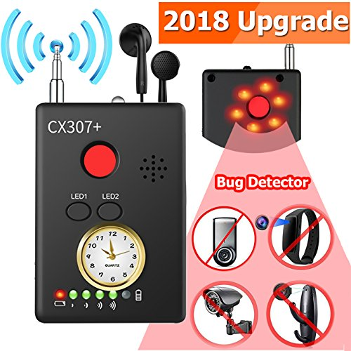 Symfury Hidden Camera Detector - Wireless Bug Detector - Anti-Spy RF/LENS Detector - GPS Detector - Signal GSM Device Laser GPS Tracker Finder Sensitivity Multi-functional GSM Device Laser gps Tracker by Symfury