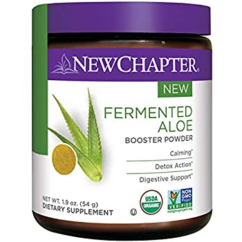 New Chapter Organic Aloe Powder – Fermented Aloe Booster Powder for Calming + Detox Action + Digestive Support – 45 Servings