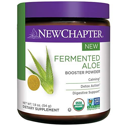 Powder Artichoke (New Chapter Organic Aloe Powder – Fermented Aloe Booster Powder for Calming + Detox Action + Digestive Support – 45 Servings)