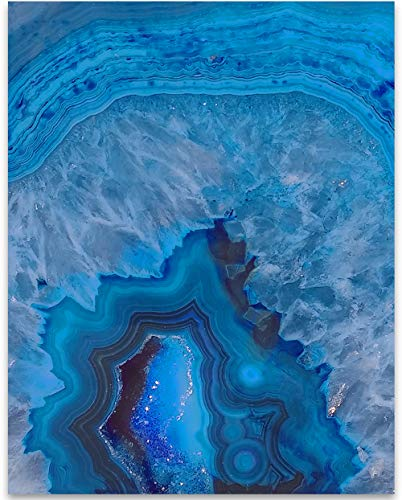 (Blue Geode - 11x14 Unframed Art Print - Makes a Great Gift to)