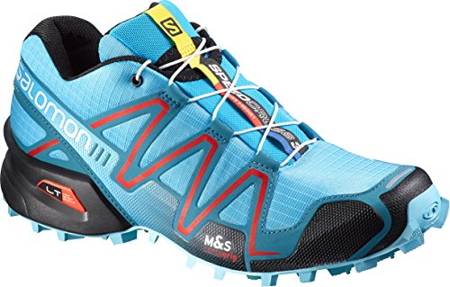 Salomon Women's Speedcross 3 Athletic Sneakers, Blue Synthetic, 10.5 B