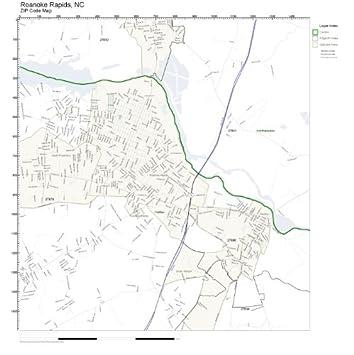 Roanoke Zip Code Map.Amazon Com Zip Code Wall Map Of Roanoke Rapids Nc Zip Code Map