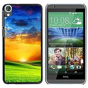 Be Good Phone Accessory // Dura Cáscara cubierta Protectora Caso Carcasa Funda de Protección para HTC Desire 820 // Prairie and sunset