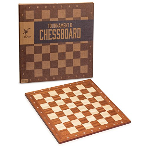 Husaria Professional Staunton Tournament Chess Board, No. 6, 21.25 Inches