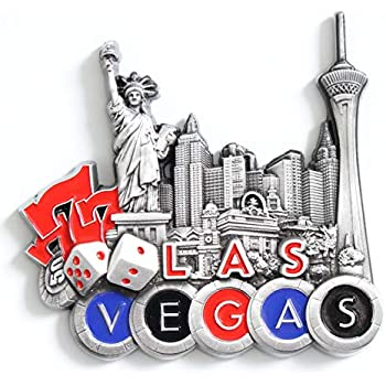 Las Vegas Metal Fridge Magnet Unique Design Home Kitchen Decorative Travel Holiday Souvenir Gift, Stick Up Your Lists Photos on Refrigerator