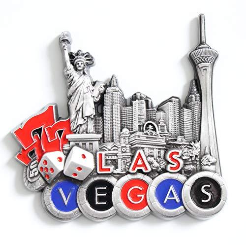 - Las Vegas Metal Fridge Magnet Unique Design Home Kitchen Decorative Travel Holiday Souvenir Gift, Stick Up Your Lists Photos on Refrigerator